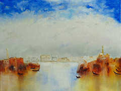 Venise; after W. Turner oil on canvas   46cm x 38cm
