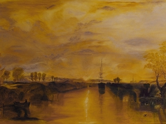 """Chichester Canal""  after W.Turner oil on canvas   92cm x 60cm"